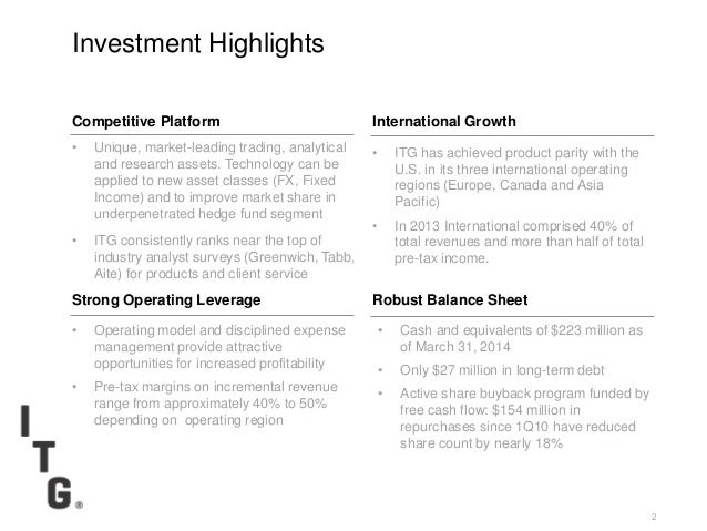 Itg investor presentation_29may14 Slide 2
