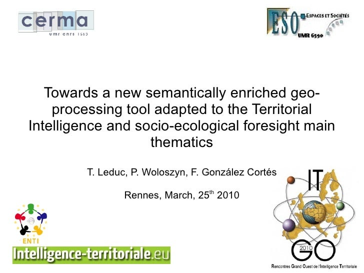 Towards a new semantically enriched geo-     processing tool adapted to the Territorial Intelligence and socio-ecological ...