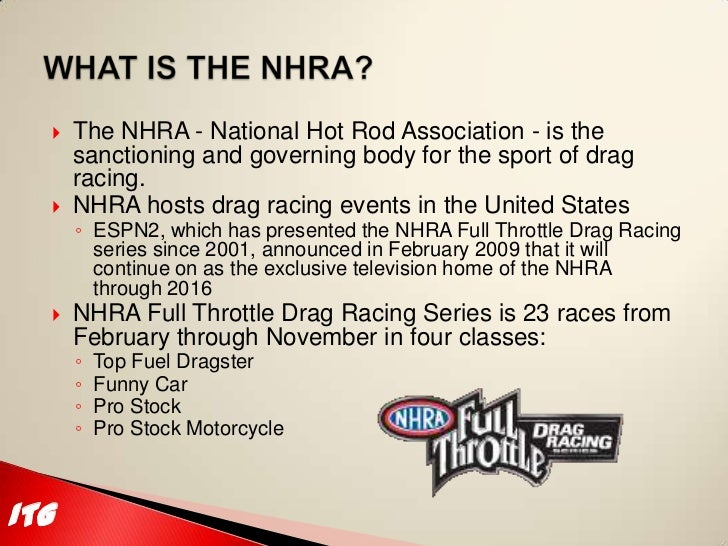itg motorsports nhra 2011 season sponsorship proposal