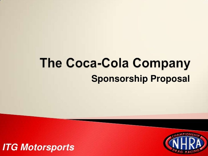 the coca cola companysponsorship proposal