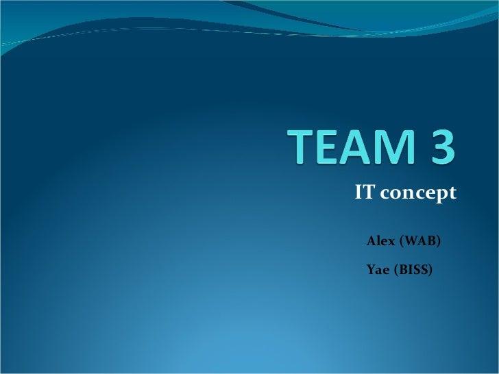 IT concept Alex (WAB) Yae (BISS)