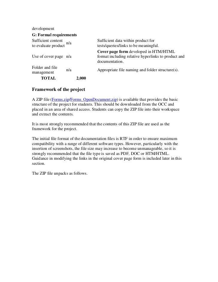 Internal Assessment Project (IA)