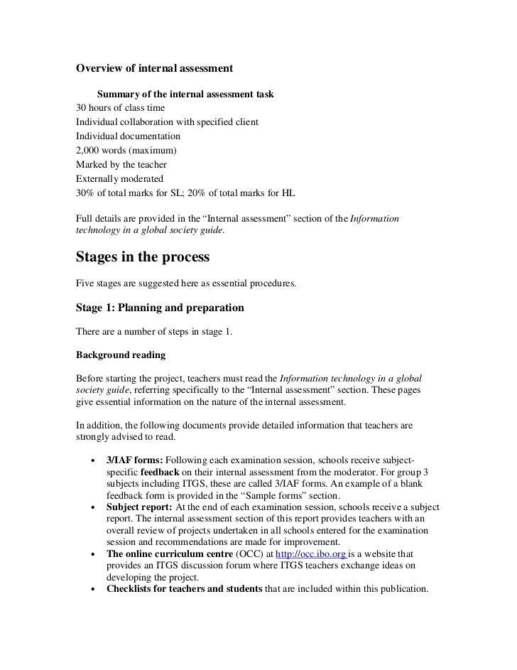 Internal Assessment Sample – Microeconomics