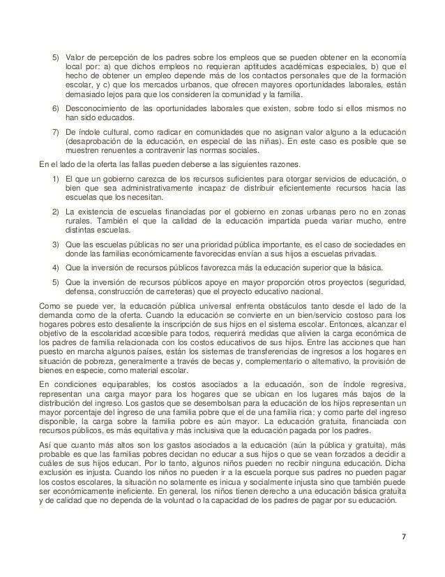 8 I.4 Datos relevantes sobre educación y rezago educativo La ampliación de las oportunidades de educación, constituye la r...