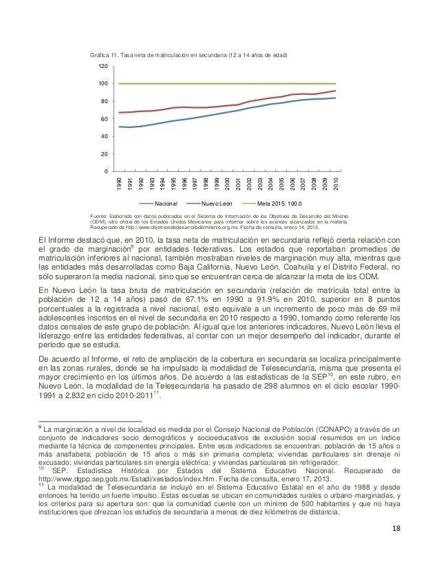 19 III.2.2 Indicador MMM 2.3. Tasa neta de nuevo ingreso a secundaria La educación secundaria en México se define como el ...