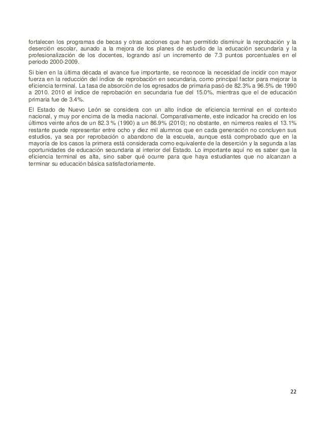 23 Cuadro 6. México. Objetivos de Desarrollo del Milenio. Meta 2.A. Asegurar que, para el año 2015, los niños y niñas de t...