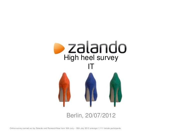 High heel survey                                                                IT                                        ...