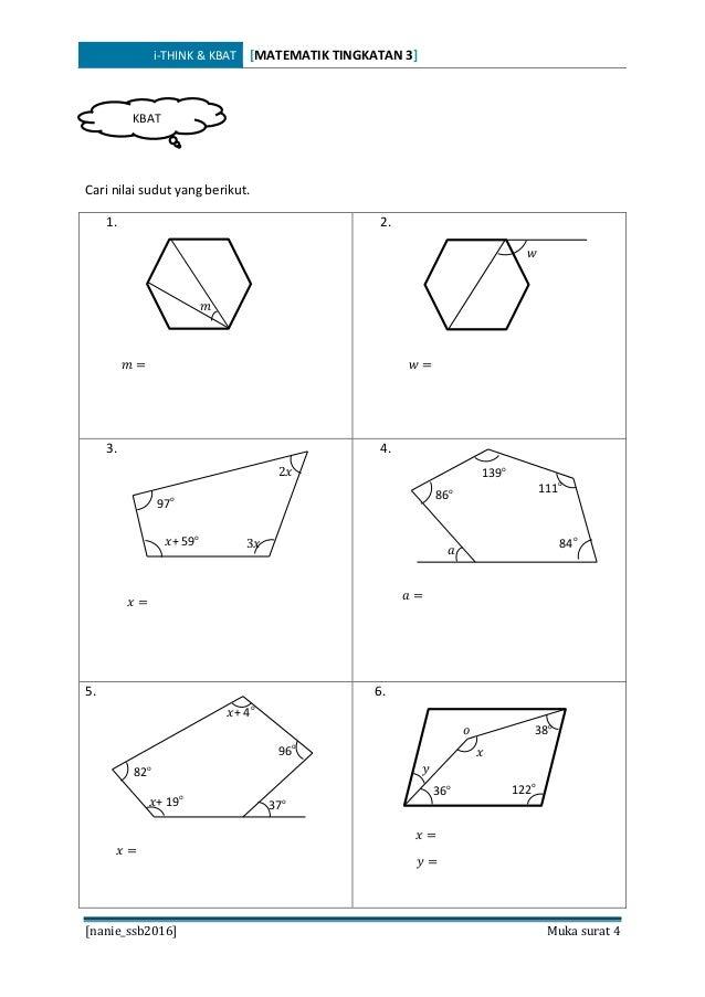 Soalan Matematik Tingkatan 4 Bab 9 - Persoalan s