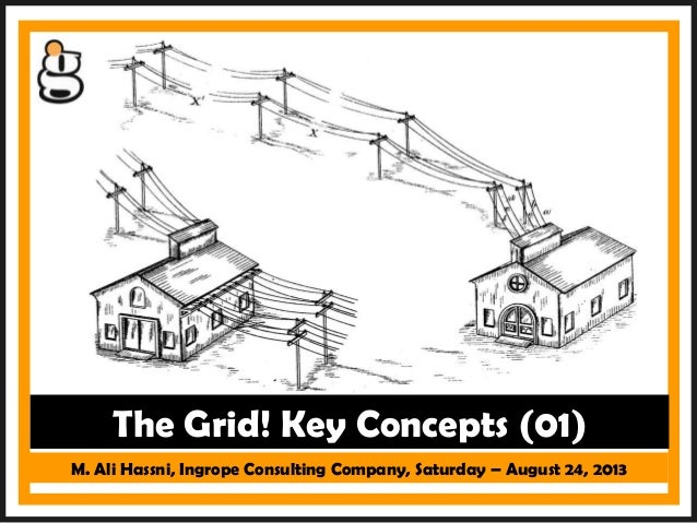 M. Ali Hassni, Ingrope Consulting Company, Saturday – August 24, 2013 The Grid! Key Concepts (01)