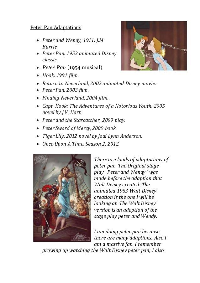 Unit 10 - Adaptations, Peter Pan.