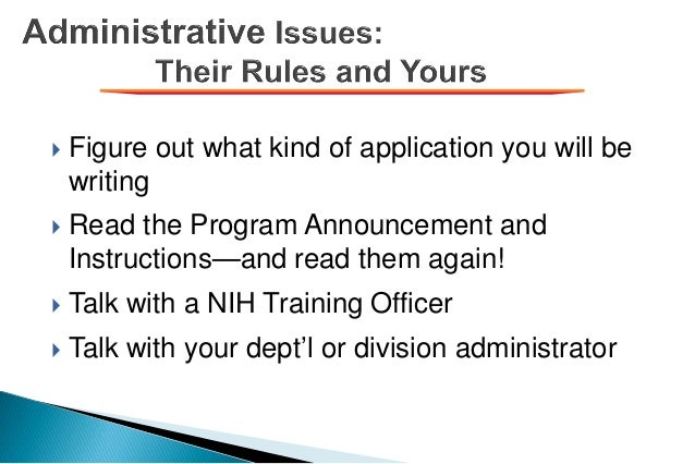  Figure out what kind of application you will be writing  Read the Program Announcement and Instructions—and read them a...
