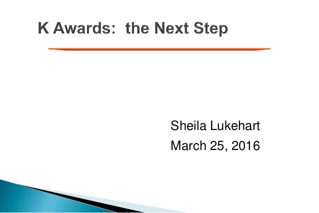 Sheila Lukehart March 25, 2016
