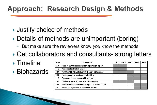  Justify choice of methods  Details of methods are unimportant (boring) ◦ But make sure the reviewers know you know the ...