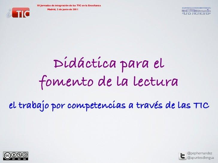 III Jornadas de integración de las TIC en la Enseñanza                                            Madrid, 2 de junio de ...