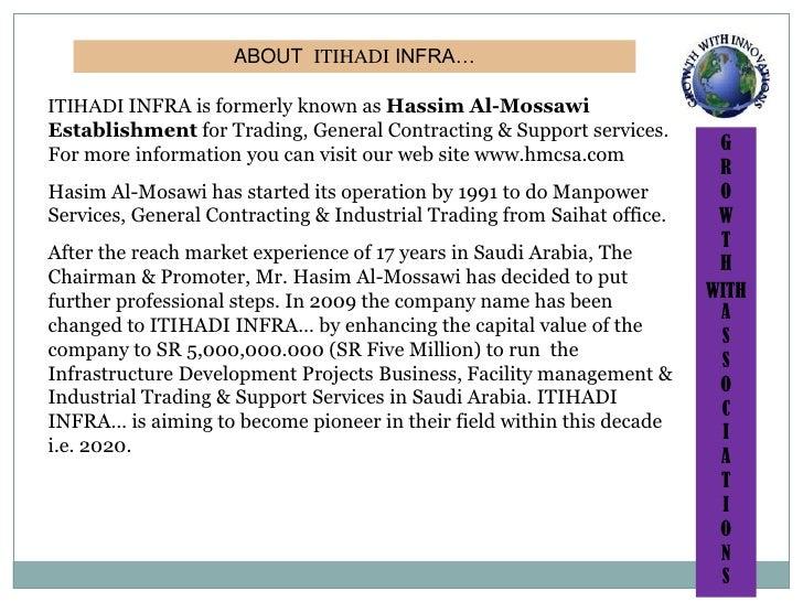 ITIHADI<br />EPC <br />BUSINESS PLAN<br />KSA<br />INFRA....<br />2010-2020<br />Eastern Province, PO Box No.1190,Saihat –...