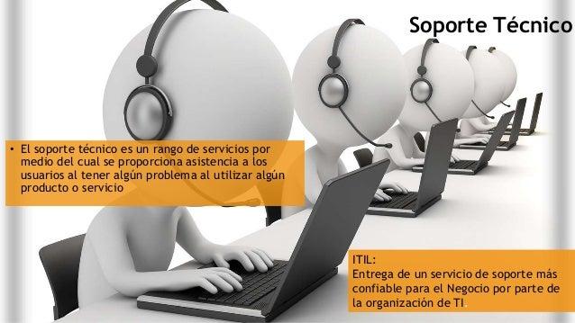 Soporte Técnico • El soporte técnico es un rango de servicios por medio del cual se proporciona asistencia a los usuarios ...