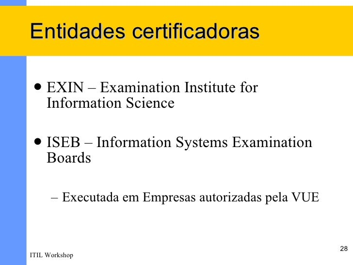 Exame itil foundation