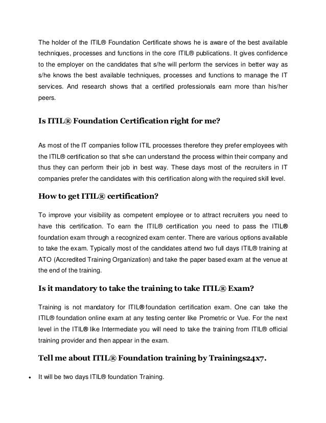 How To Obtain Itil Certification Choice Image Creative Certificate