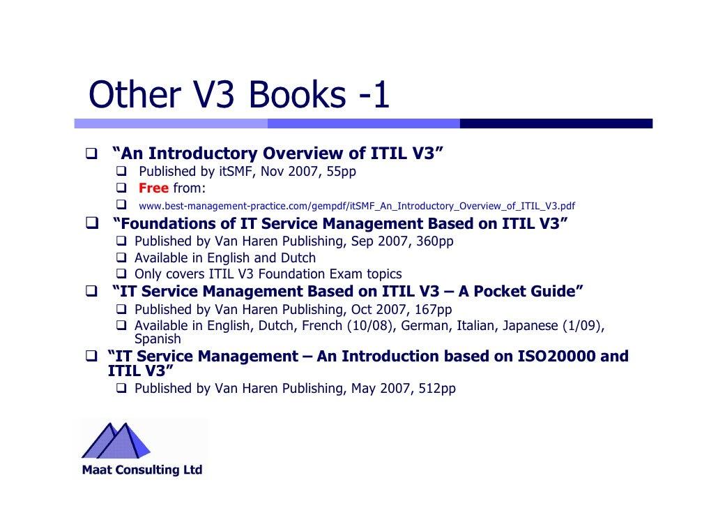 Itil V3 Highlights