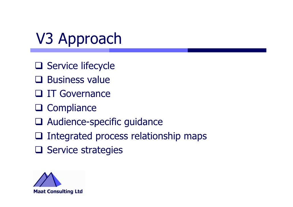 Itil v3 highlights v3 approach service lifecycle business value fandeluxe Images