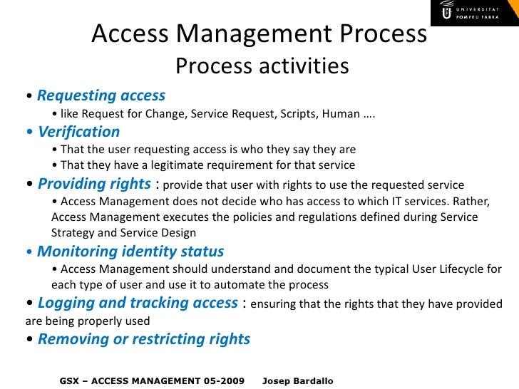 ITIL IAM Access Management