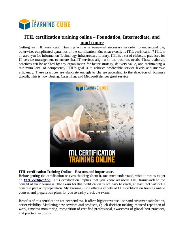 Itil Expert Training Online Mylearningcube