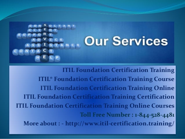 certification itil foundation training