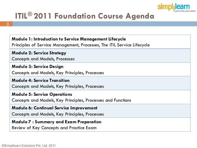 Itil 2011 foundation practice exam