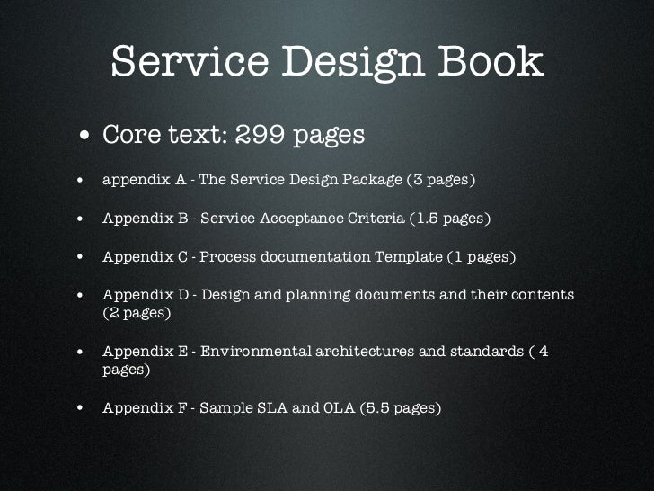 Itil intermediate service design how is itil v3 service for Itil service design document template