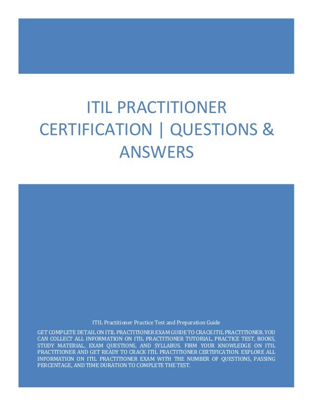 practitioner itil exam questions certification answers