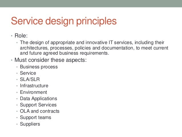 Itil service design service design principles pronofoot35fo Image collections