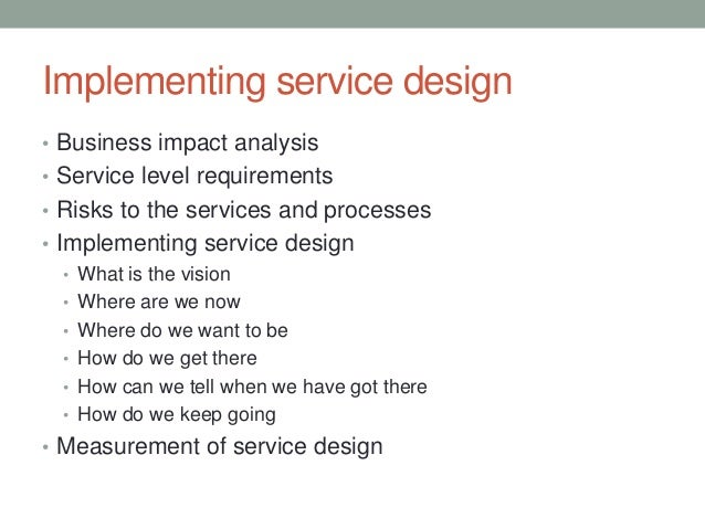 Itil service design 50 implementing service design pronofoot35fo Image collections