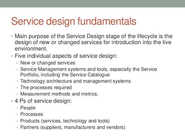 Itil service design service design fundamentals pronofoot35fo Image collections