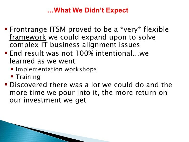 a case for itil return on The primary objective of incident management is to return the it service  which  in most cases are minor (standard) changes (eg requests to.