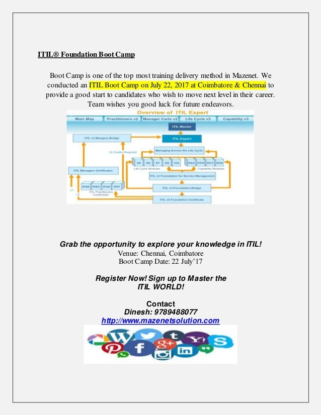 Itil Foundation Boot Camp