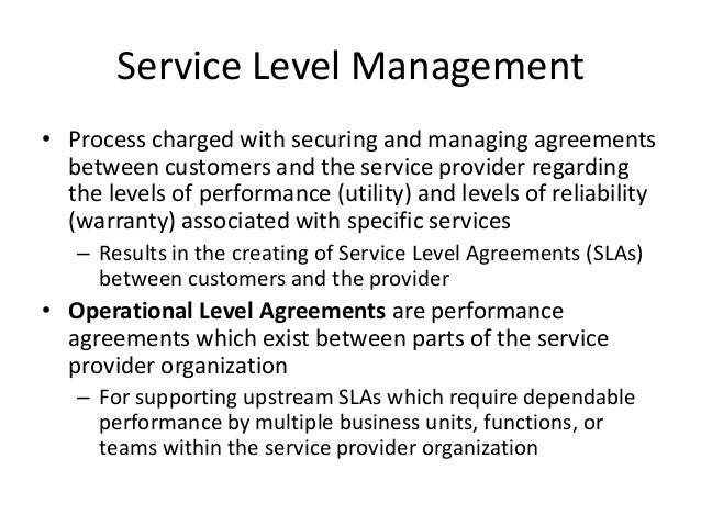 Service level agreement template training providers for Service provider agreement template free