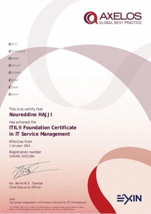 itil v3 foundation certificate