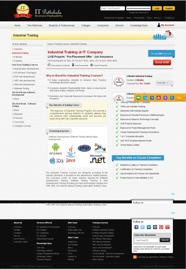 IT Industrial Summer Training in Noida