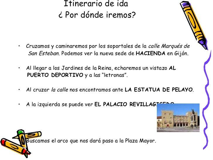 Itinerario for Jardines de la reina gijon