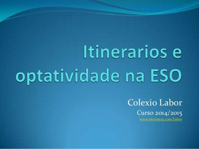 Colexio Labor Curso 2014/2015 www.elorienta.com/labor