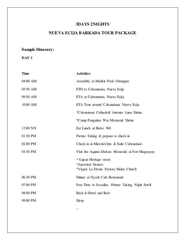 Nueva Ecija 3Days 2Nights Itinerary