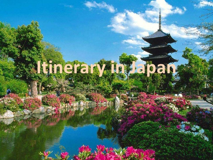 Itinerary in Japan