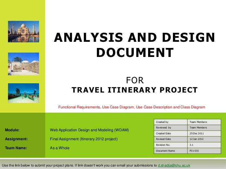 ANALYSIS AND DESIGN                                       DOCUMENT                                                        ...