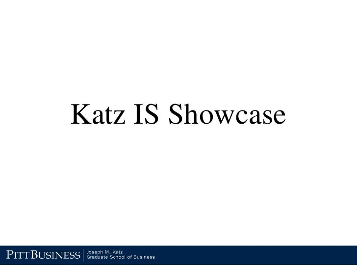 Katz IS Showcase