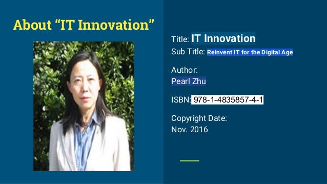 """""""IT Innovation"""" book introductioin Slide 2"""