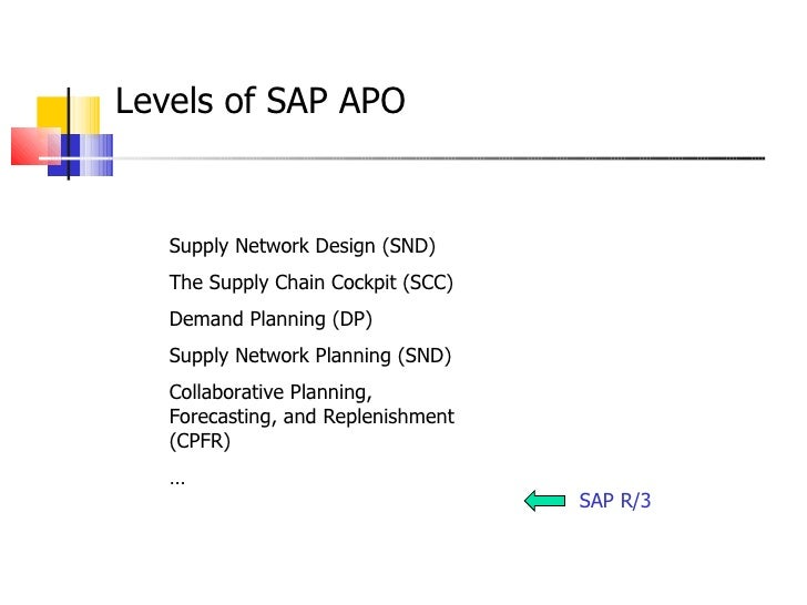 scp and sap apo Sap hana is a business data platform that processes transactions and analytics at the same time on any data type, with built-in advanced analytics and multi-model data processing engines that can be leveraged to develop next-generation applications for the intelligent enterprise.