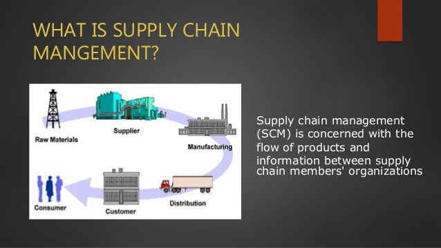 Supply chain management (SCM) is concerned with the flow of products and information between supply chain members' organiz...