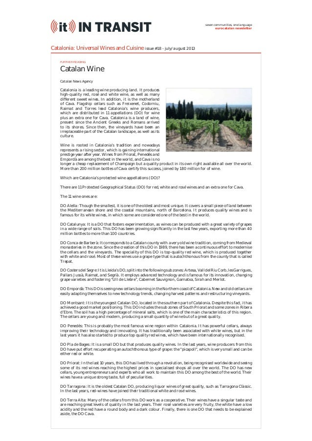 Catalonia: Universal Wines and Cuisine (IT In Transit #18) on