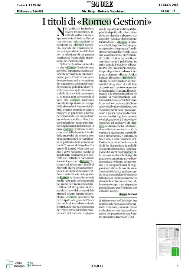 Lettori: 1.179.000                                     16-MAR-2013Diffusione: 266.088   Dir. Resp.: Roberto Napoletano   d...