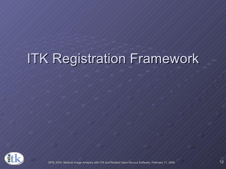ITK Registration Framework